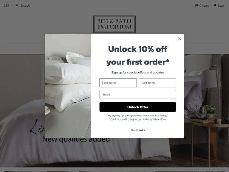 Bed and Bath Emporium screenshot