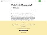 What is Content Repurposing?
