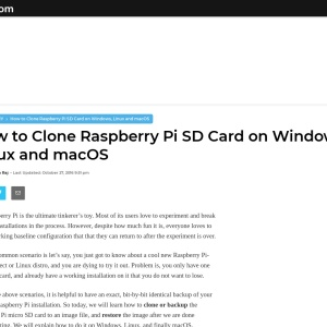 How to Clone Raspberry Pi SD Card on Windows, Linux and macOS
