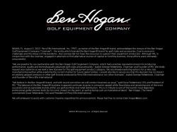 Ben Hogan Golf Equipment screenshot