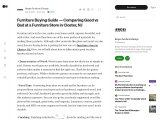 Furniture Buying Guide — Comparing Good vs Bad at a Furniture Store in Closter, NJ