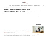 Best Faber Auto Clean Chimney in India
