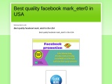 I will do promotion your business in usa by facebook marketing