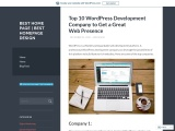 WordPress web development company | WordPress development agency