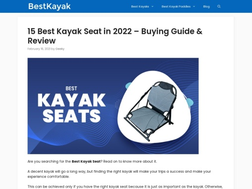 15 Best Kayak Seat in 2021 – Expert Review & Comparision!