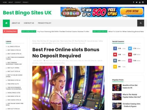 Best Free Online slots Bonus No Deposit Required