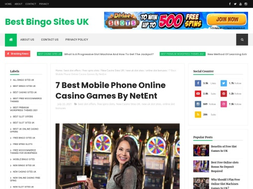 7 Best Mobile Phone Online Casino Games By NetEnt