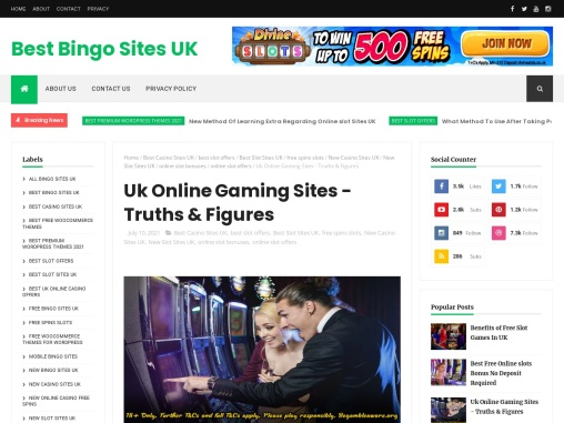 Uk Online Gaming Sites – Truths & Figures