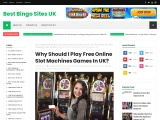 Why Should I Play Free Online Slot Machines Games In UK?