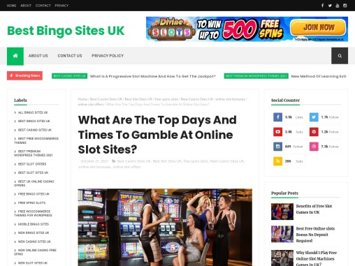 What Are The Top Days And Times To Gamble At Online Slot Sites?