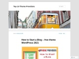 How to Start a Blog – free theme wordpress 2021