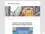 5 Tips for Choosing a Restaurant best business wordpress themes