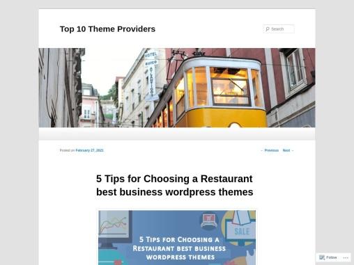 5 Tips for Choosing a Restaurant best business wordpress themes