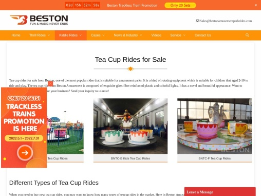 Tea Cup Rides for Sale from Beston