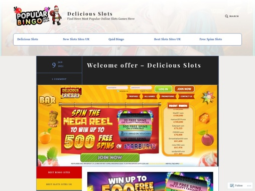 Welcome offer – Delicious Slots