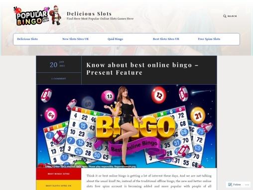 Know about best online bingo – Present Feature