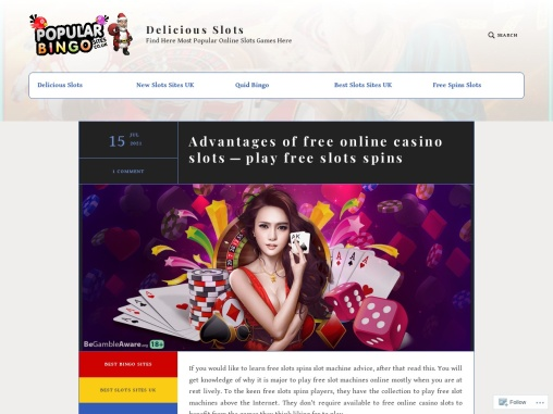 Advantages of free online casino slots—play free slots spins