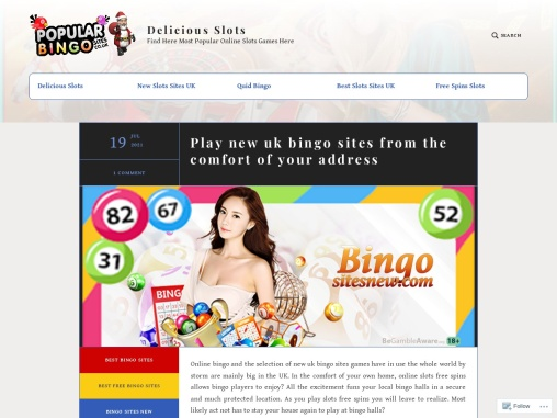 Play new uk bingo sites from the comfort of your address