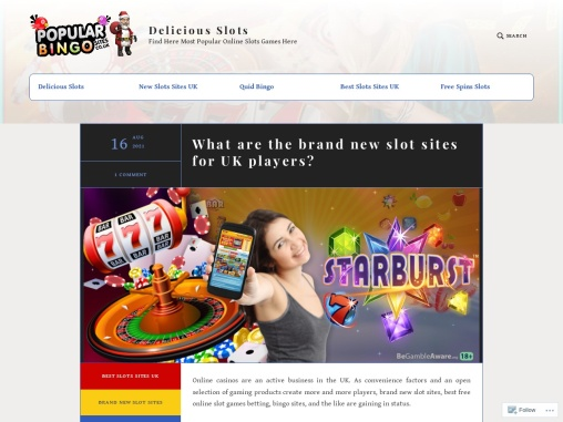 What are the brand new slot sites for UK players?