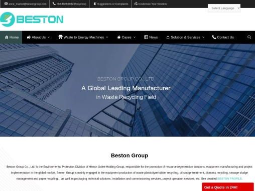Beston Machinery | A Top Manufacturer