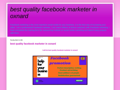 I will do facebook promotion for your business in USA