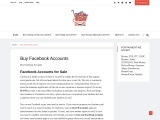 Facebook Accounts for Sale  you can buy FB accounts
