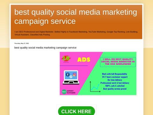 best quality social medai marketing service