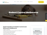 Expert Solutions to Rodent Control and Removal in Melbourne