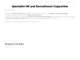 Recruitment and HR Copywriter – BRCS