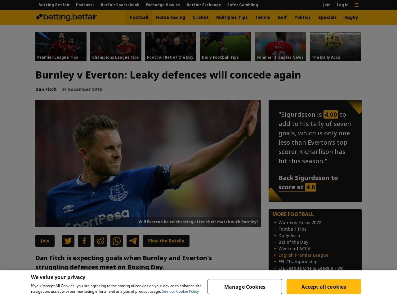 Burnley v Everton: Leaky defences will concede again