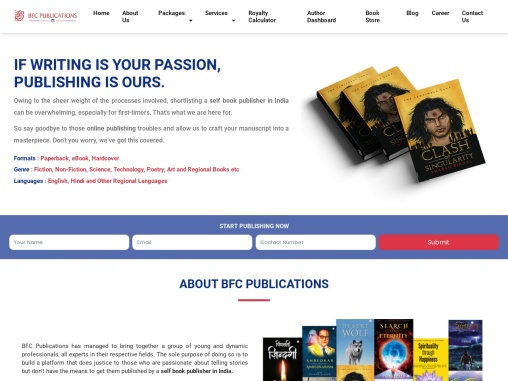 Self Book Publishing in India | Online Publishing