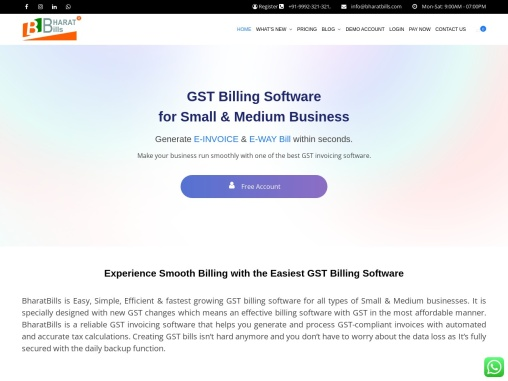 BharatBills – GST Billing Software, Inventory Management Software For Small Businesses in India