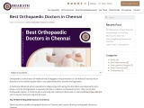 Best Orthopaedic Surgeon in Chennai
