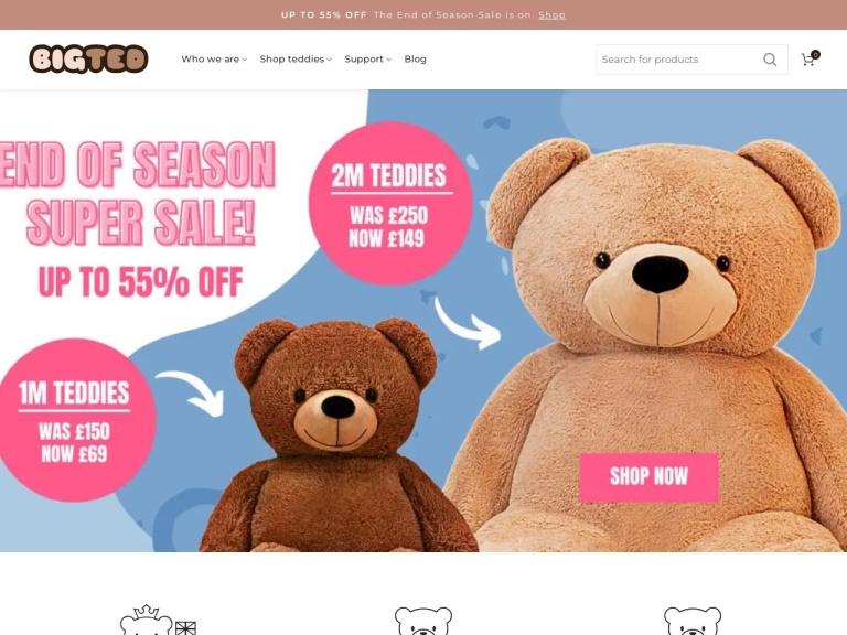 BigTed Teddies Discount Codes screenshot