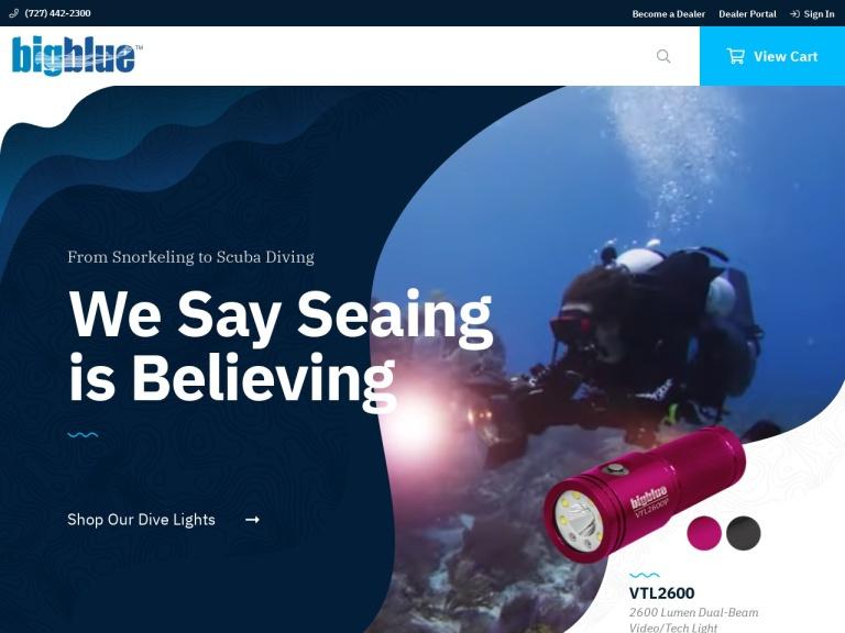 Bigblue Dive Lights screenshot