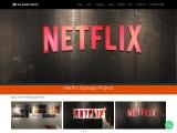 Netflix Signage Project   Big Image Group
