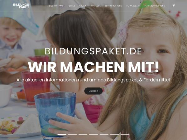 Details : Bildungspaket in Deutschland - Chancen erhalten