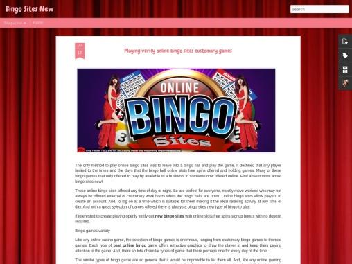 Playing verify online bingo sites customary games