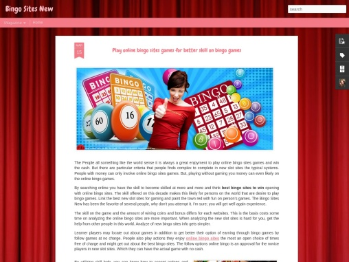 Play online bingo sites games for better skill on bingo games