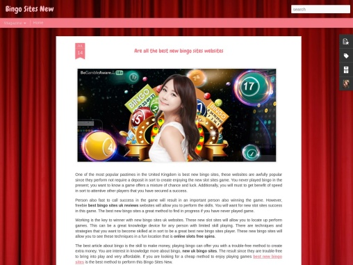Are all the best new bingo sites websites