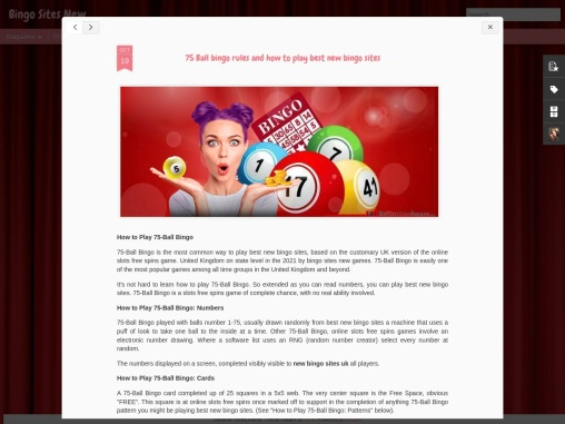 75 Ball bingo rules and how to play best new bingo sites