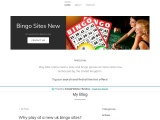 Why play at a new uk bingo sites?