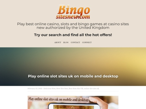 Play online slot sites uk on mobile and desktop
