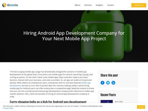Hiring Android App Development Company for Your Next Mobile App Project
