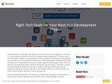 Right Tech Stack for Your Next App Development Project