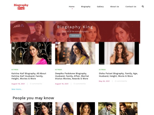 biographyking website is good biography & media site