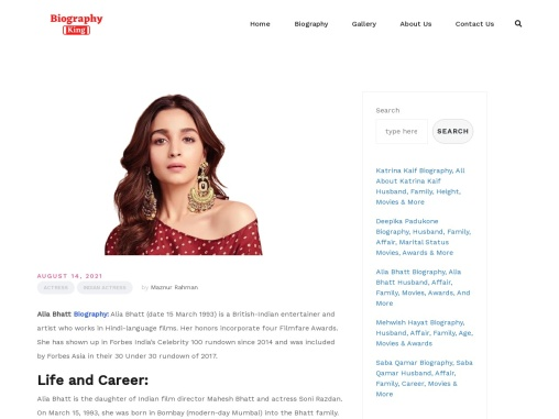 Alia Bhatt Biography, Alia Bhatt Husband, Affair, Family, Movies, Awards, And More