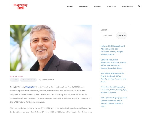 George Clooney Biography, All About George Clooney Personal Information And More