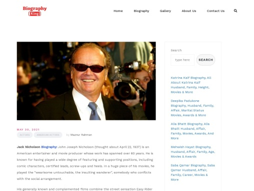 Jack Nicholson Biography, All About Jack Nicholson Family, Girlfriend, Wife, Age, Height, Movie & Aw