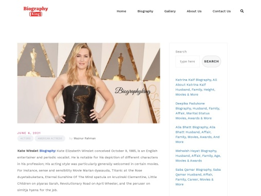 Kate Winslet Biography – All About Kate Winslet